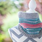 Loom Knit Cowl Neck Scarf