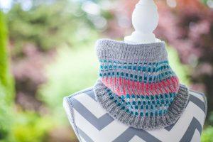 Loom Knit Cowl Neck Scarf