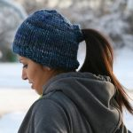 Loom Knit Ponytail Hat Pattern