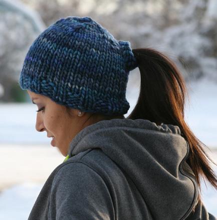 Loom Knit Ponytail Hat Pattern