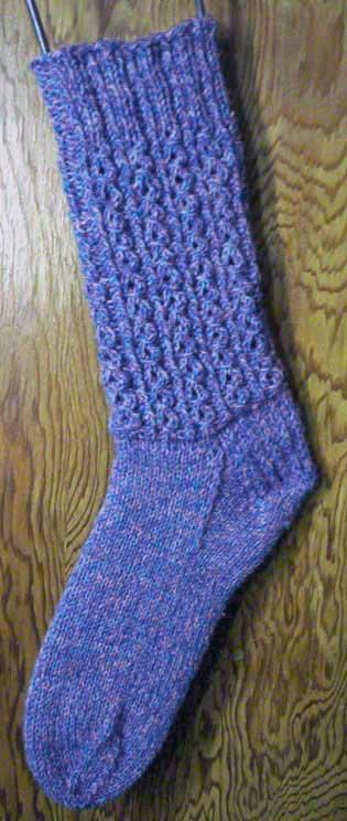 Mock Cable Socks Knitting Pattern