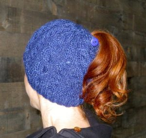 Ponytail Hat Knitting Pattern