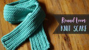 Round Loom Knitting Scarf