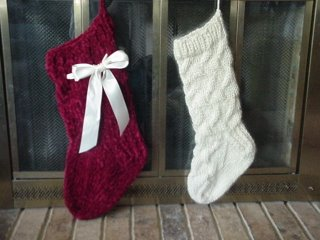 Cable Knit Christmas Stocking Pattern