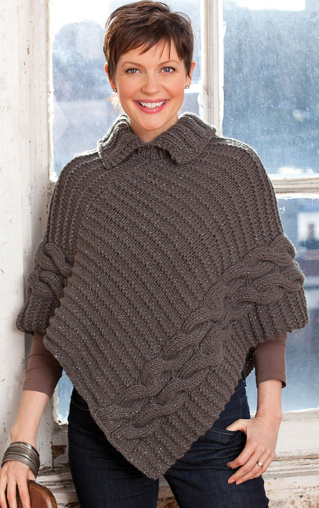 Cable Knit Poncho Pattern Free