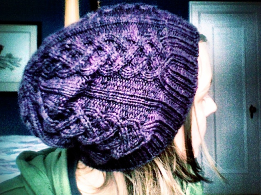 Cable Knit Slouchy Hat Pattern Free