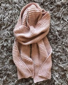 Chunky Knit Blanket Scarf