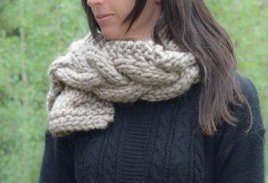 Chunky Knit Scarf Pattern