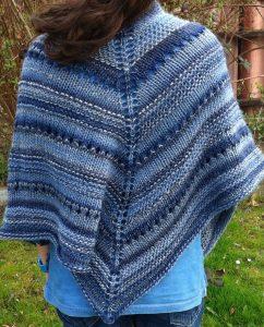 Easy Knit Triangle Shawl Pattern Free