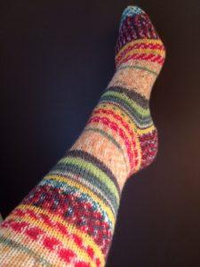 Easy Sock Knitting Pattern Circular Needles