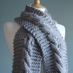 Easy Super Chunky Cable Knit Scarf Pattern Free