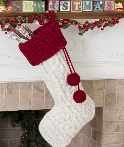 Free Chunky Cable Knit Christmas Stocking Pattern