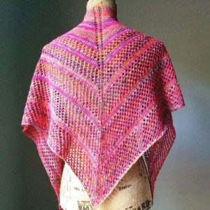 Free Easy Knitting Pattern Triangle Lace Shawl