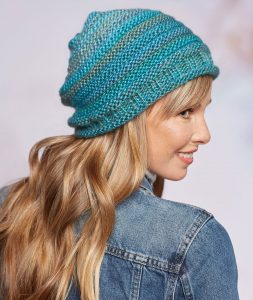 Free Knitting Pattern for Slouchy Beanie Hat
