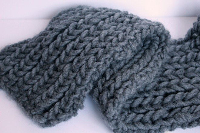 How to Knit a Chunky Scarf