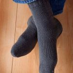 Knitting Pattern Toe-up Men's Socks on Circular Needles