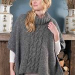 Ladies Cable Knit Poncho