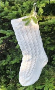 Large Cable Knit Christmas Stockings