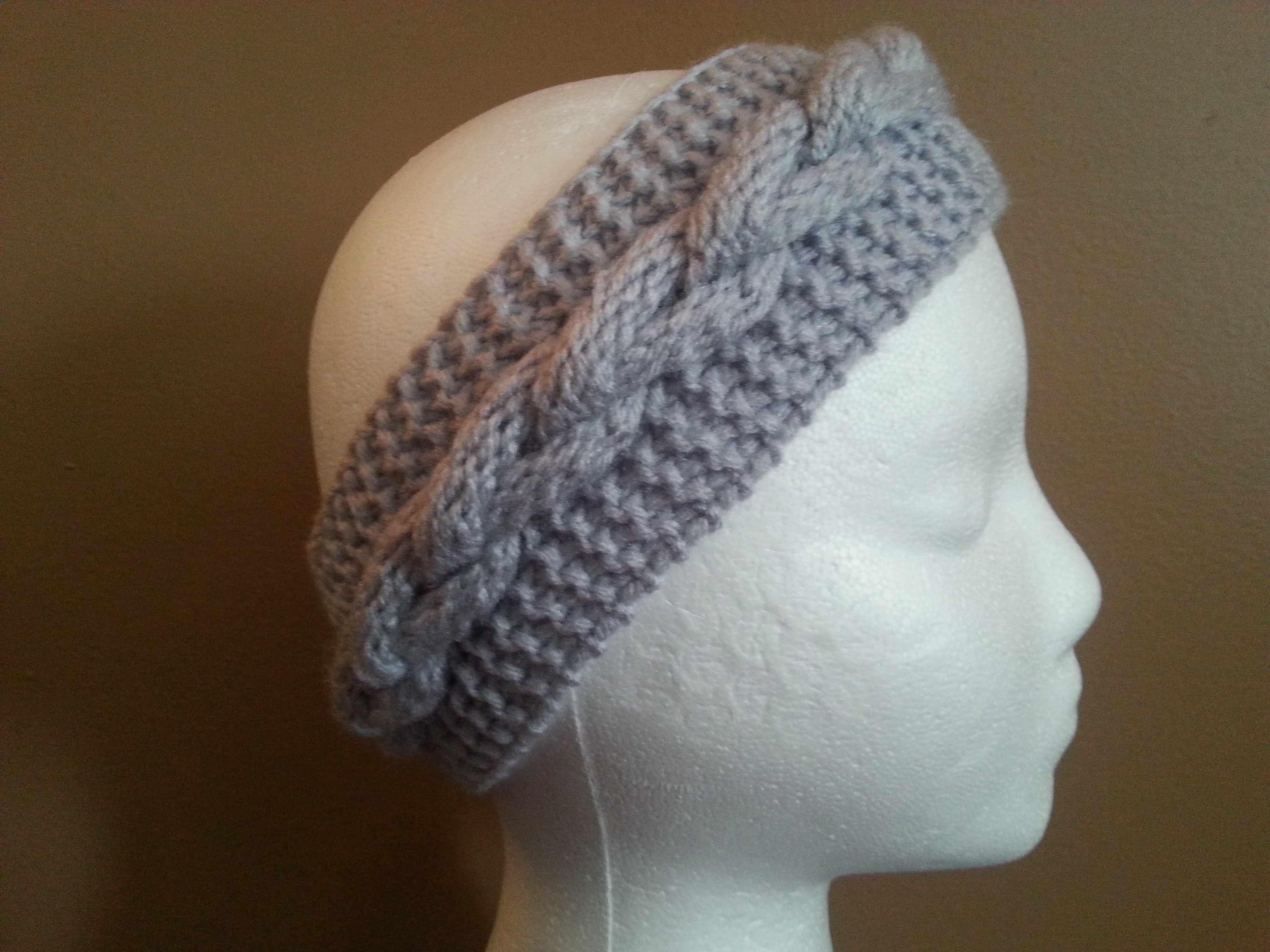 Loom Knit Braided Headband