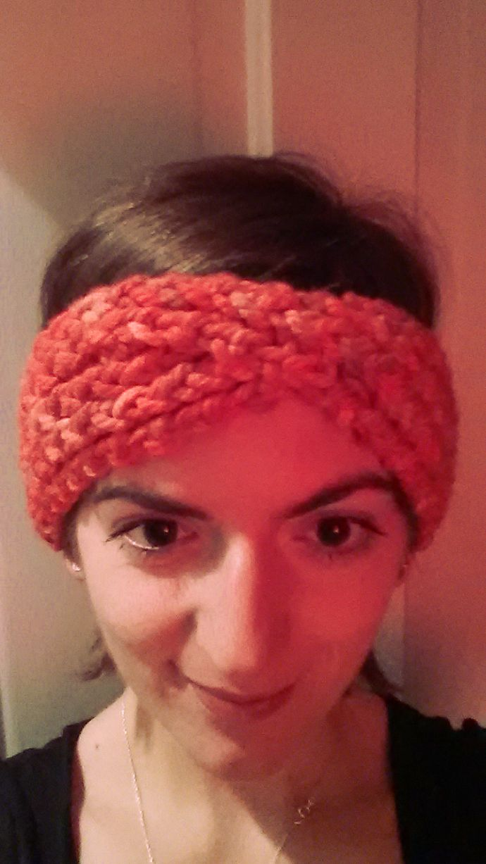 Loom Knit Turban Headband