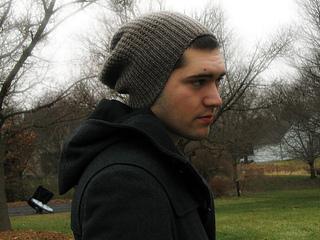 Men's Slouchy Hat Knitting Pattern Free