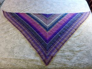 Triangle Shawl Knitting Pattern Garter Stitch