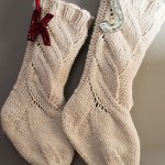 White Cable Knit Christmas Stockings
